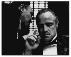 "Marlon Brando Painting 02 - Godfather - POP ART - 20"" x 16"""