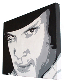 "clockwork Orange Painting - POP ART - size 20"" x 16"""