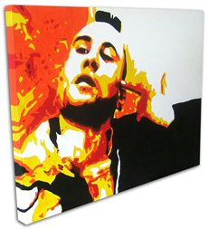"Robert Deniro Painting 01 - Taxi Driver - POP ART -  24"" x 18"""