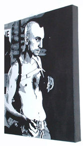 "Robert Deniro Painting 02 - Taxi Driver - POP ART - 16"" x 20"""