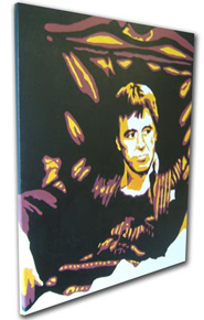 "Scarface Painting 01 - POP ART - size 18"" x 24"""