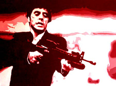 "Scarface Painting 03 - POP ART - size 30"" x 24"""