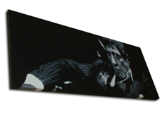 "Scarface Painting 05 - POP ART - size 44"" x 18"""