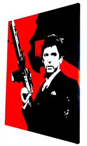 Scarface Painting 06 - POP ART - size 24&quot; x 30&quot;